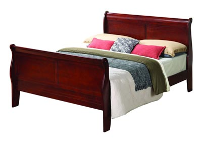 Cherry King Sleigh Bed
