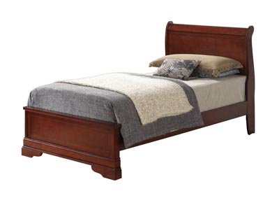 Cherry Full Low Profile Bed