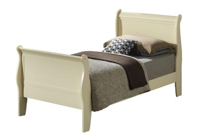 Image for Beige Twin Sleigh Bed