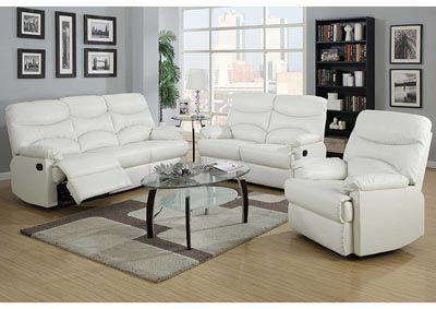 Sensational Rf Furniture White Bonded Leather Double Reclining Sofa Ocoug Best Dining Table And Chair Ideas Images Ocougorg