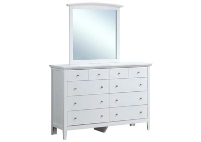 White Arched Dresser Mirror