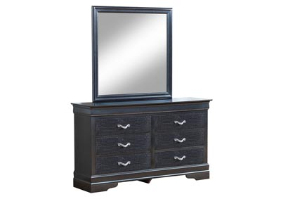 Charcoal Rectangular Dresser w/Mirror
