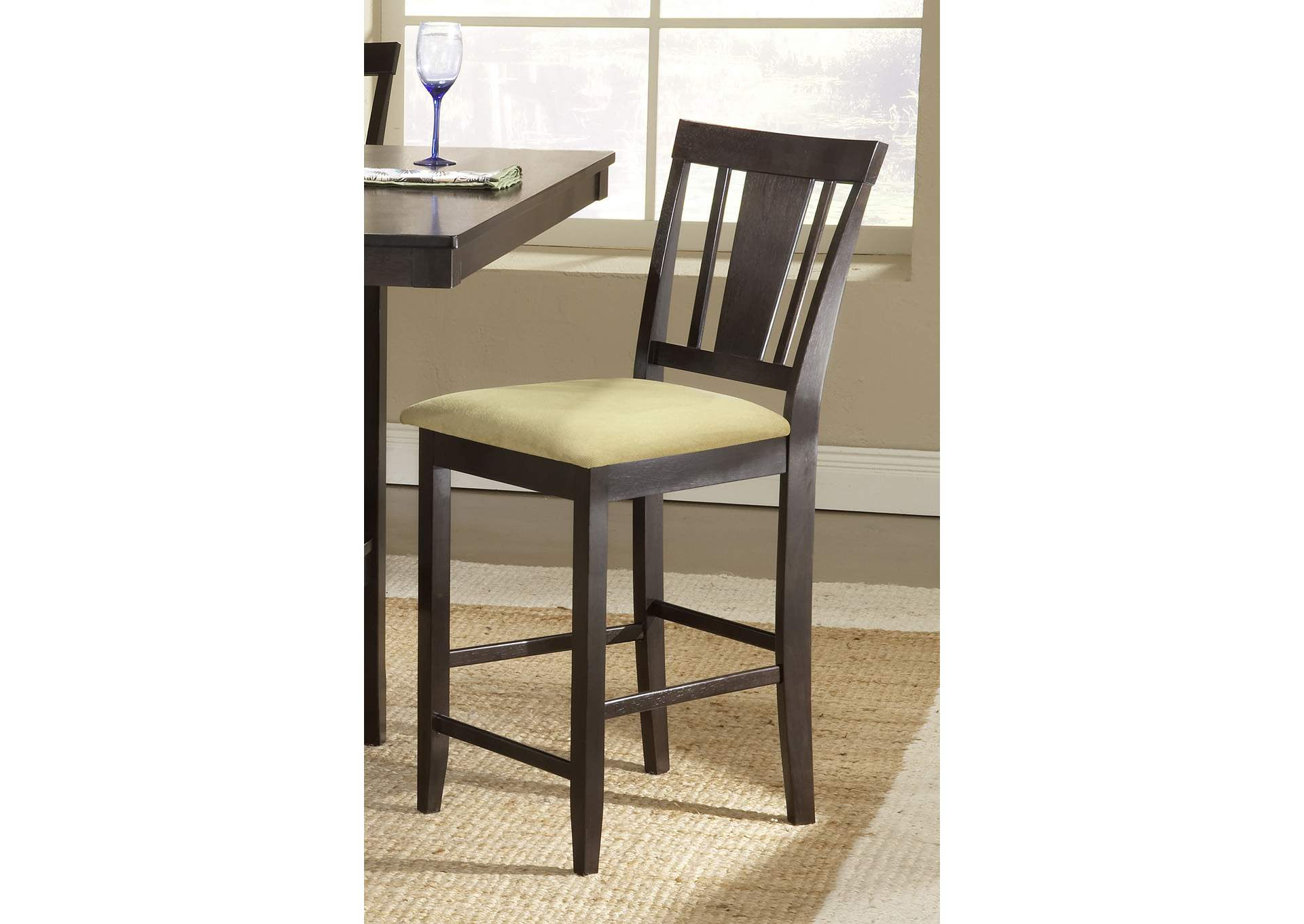 Arcadia Beige Non-Swivel Counter Stool,Hillsdale