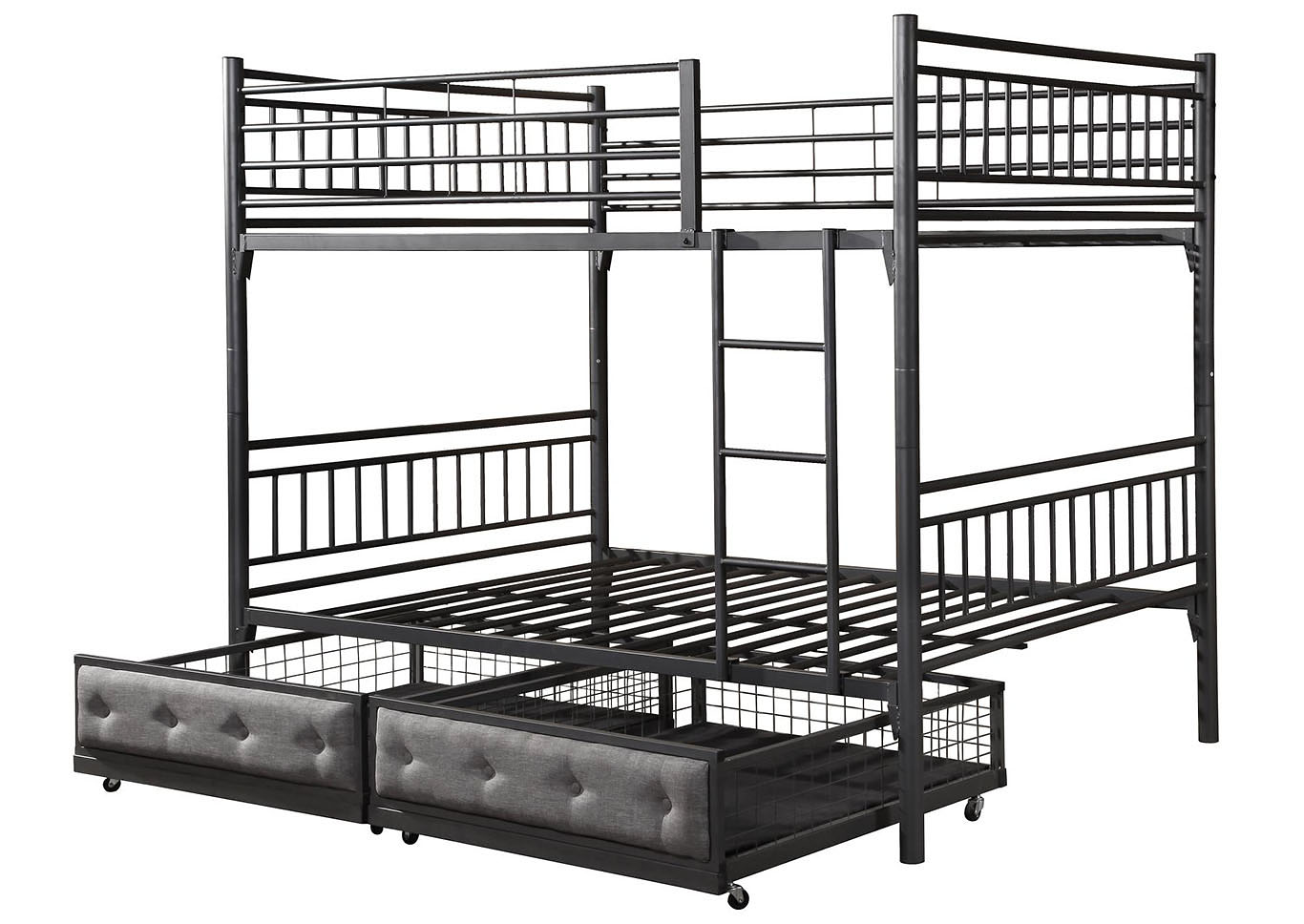 Roses Flooring And Furniture Henry Grey Bunk Bed Full Full W Storage