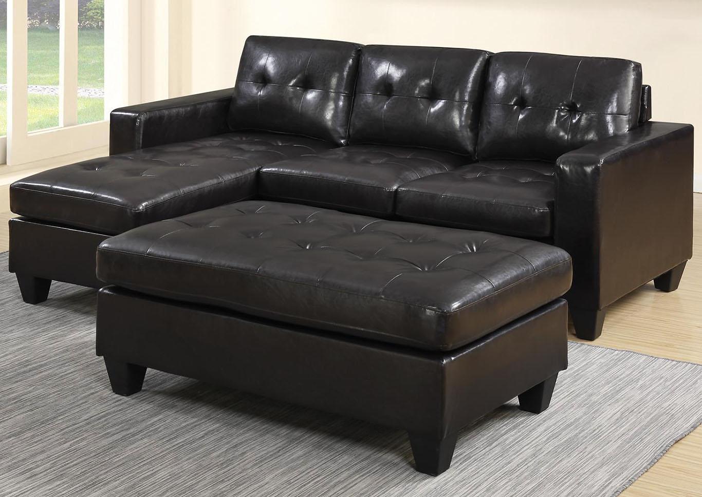 Pleasing Roses Flooring And Furniture Norwalk Black Sofa W Ottoman Forskolin Free Trial Chair Design Images Forskolin Free Trialorg