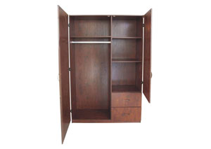 Image for Walnut 2 Door Wardrobe