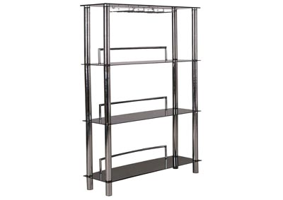 Black/Chrome Glass Bar Unit