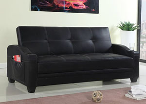 Black 3 Seater Sofa Bed- SX-103
