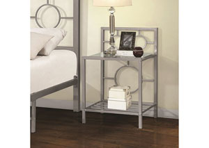 Metal Silver Night Stand