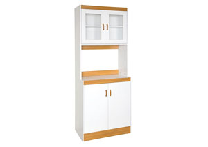 White Wood Kitchen Cabinet