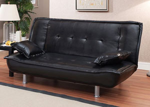 Black Sofa Bed & 2Pillows
