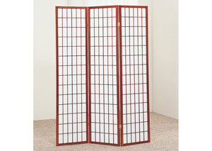 Cherry 3 Panel Shoji Screen