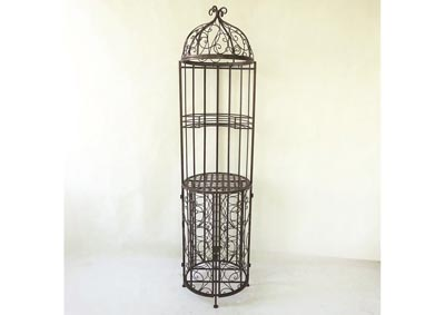 Wine Rack In Birdcage Design