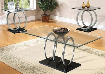 Chrome & Clear Glass Top End Tables