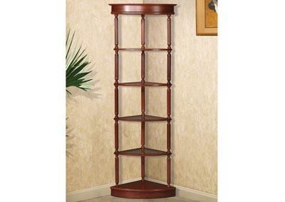 Cherry Corner Shelving Unit