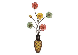 Multi Wall Decor Flowers in Vase