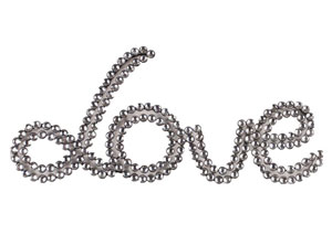 Silver Wall Decor Love in Jewels