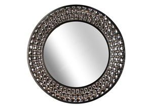 Clear & Black Wall Mirror-Jeweled Mirror