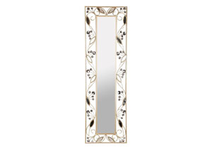Gold Wall Mirror Rectangle w/Leaves
