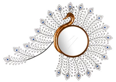 Gold Wall Mirror Peacock