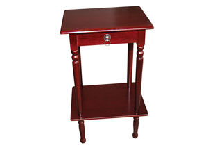Mahogany Square Accent Table