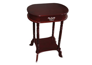 Mahogany Oval Accent Table