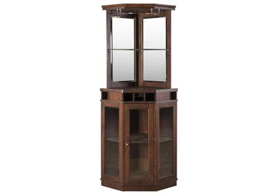 Mahogany Corner Bar Unit