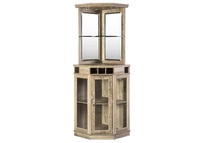 Oak Corner Bar Unit w/Mop