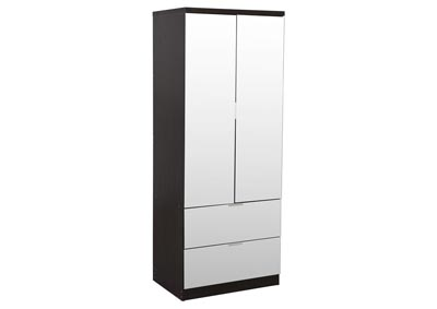 Gianna Espresso Mirrored Wardrobe