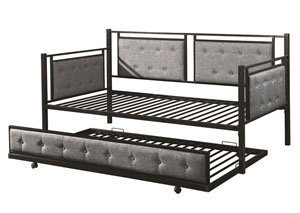 Black/Grey Daybed With Trundle