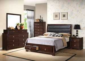 Christoff Mahogany King Storage Bed