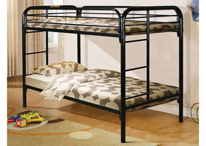 Black Twin/Twin BunkBeds