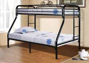 Black Twin/Full bunkBeds