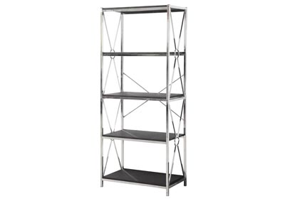 Silver and Black Etagere
