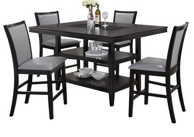 Roses Flooring And Furniture Grazia Blackgray 5 Pc Counter Height