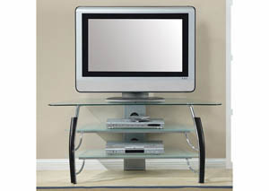 Glass/Black TV Stand