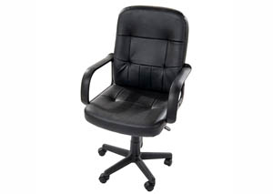 Image for Black Computer Chair w/ Nylon Back