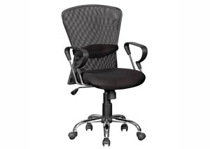 Image for Black/Chrome Mesh Computer Chair