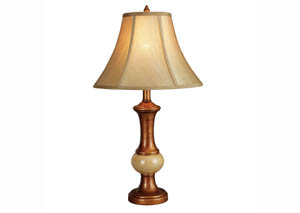 Gold Polyresin Table Lamp