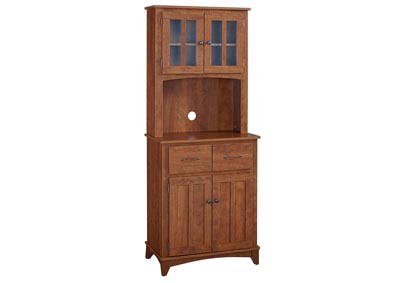 Oak Hills Red Oak Tall Microwave Cart