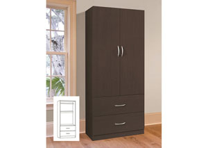Image for Espresso 2 Door Wardrobe