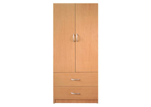 Image for Maple 2 Door Wardrobe