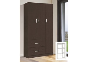 Image for Espresso 3 Door Wardrobe