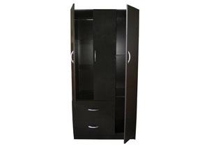 Image for Black 3 Door Wardrobe