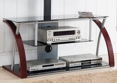 Logan Black/Cherry TV Stand w/Plasma Mount
