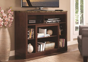 Dark Walnut TV Stand Convertible To Electrical Fireplace Frame