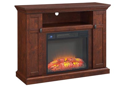 Tao Dark Walnut TV Stand w/Fireplace