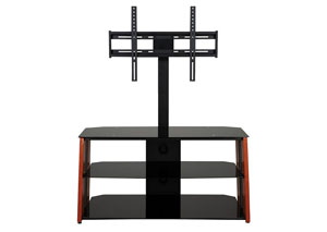 Black/Wood TV Stand W/ Mount