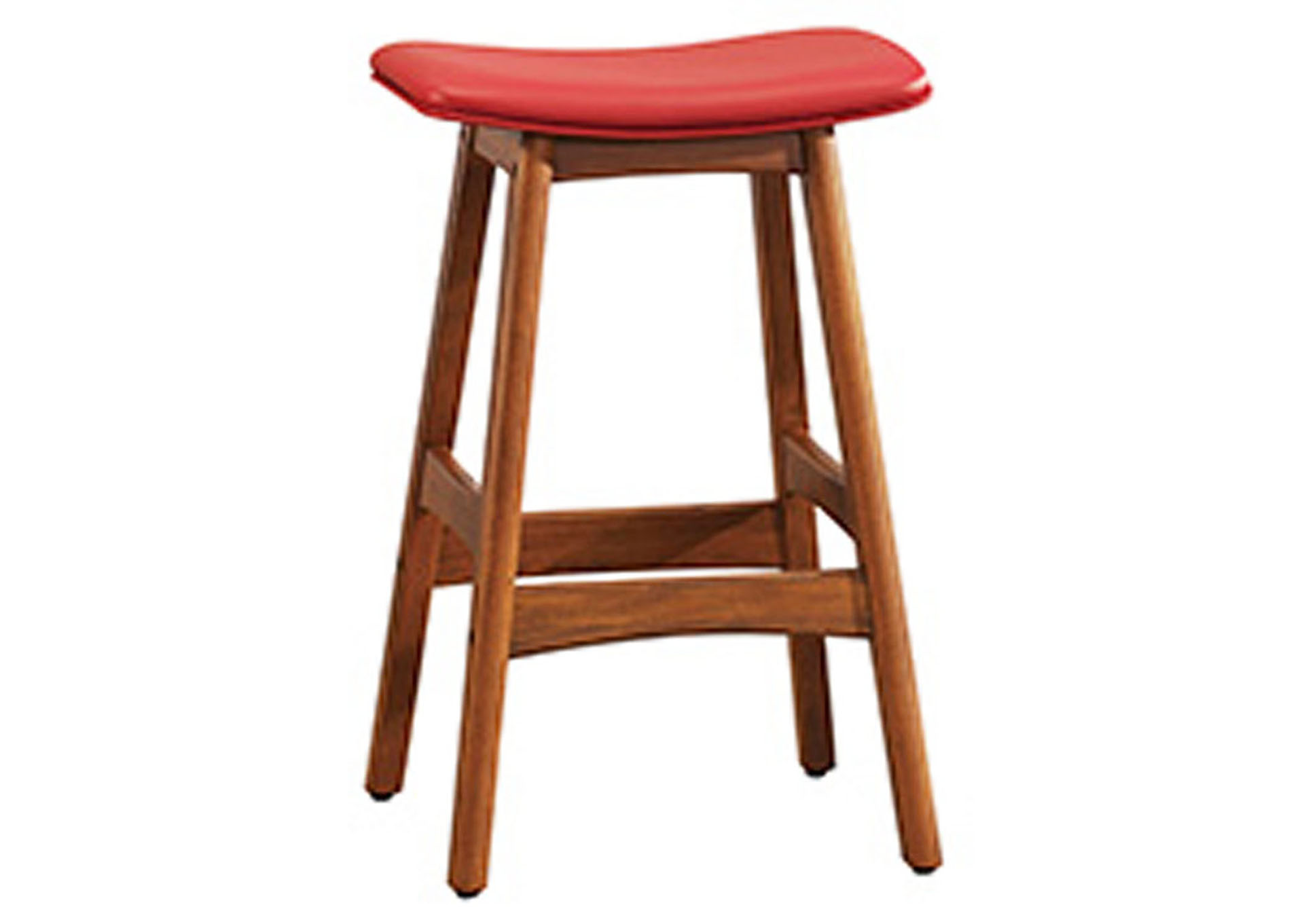 Red Counter Height Stool,Homelegance