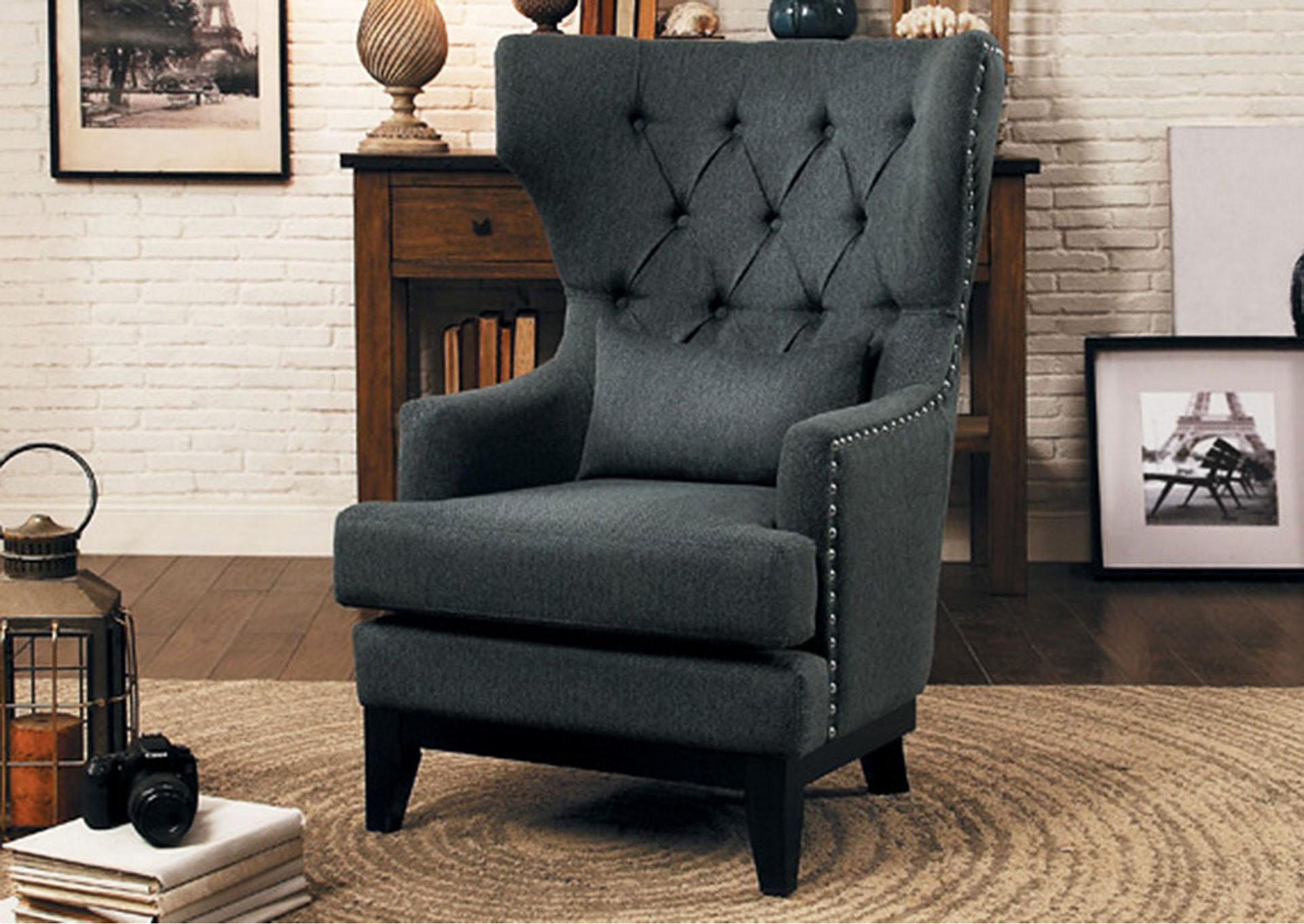 Accent Chair, Herringbone Fabric,Homelegance
